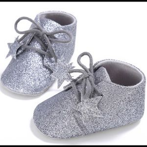 Other - Sliver Glitter Baby Bootie Shoes